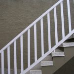 Two Tone Stucco Painting around outdoor stairs