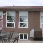 Window Cladding Calgary to compliment the new stucco painting