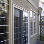 Stucco painting around windows