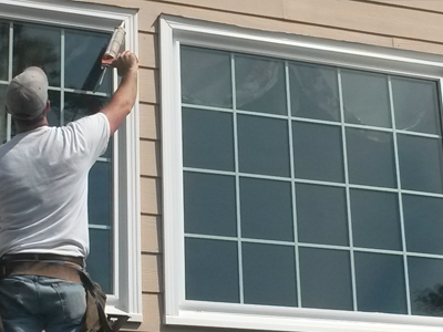 window cladding and caulking by Legacy exteriors